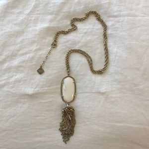 Kendra Scott Rayne necklace white mother of pearl